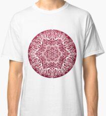 Red Consciousness Glitter Mandala Classic T-Shirt