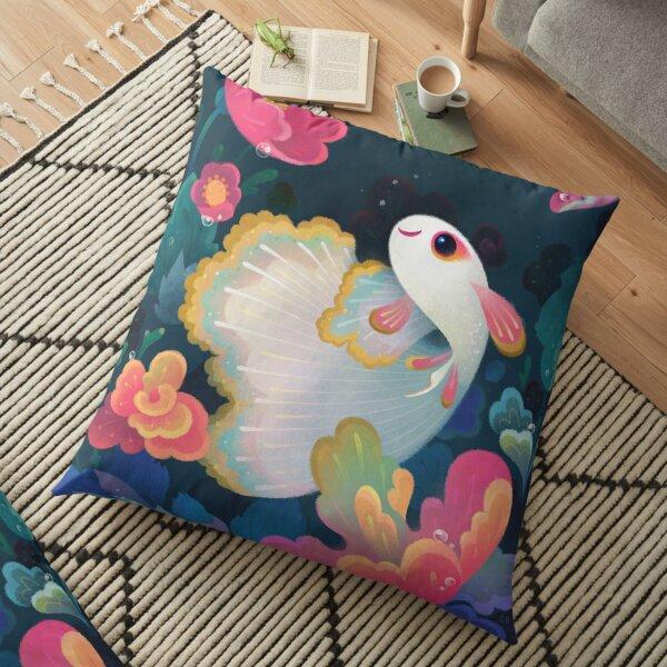 Flower guppy Floor Pillow