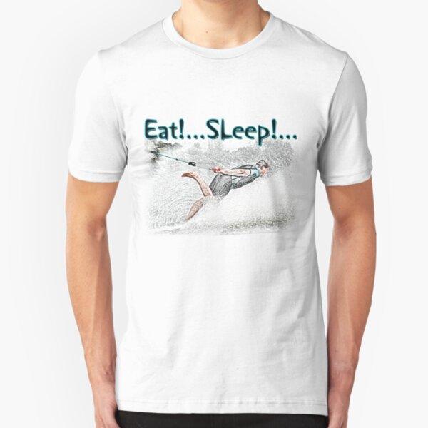 Eat Sleep Barefoot Slim Fit T-Shirt