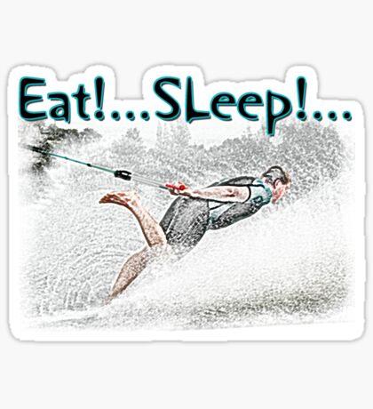 Eat Sleep Barefoot Sticker