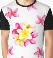 Frangipanis Scattered Graphic T-Shirt