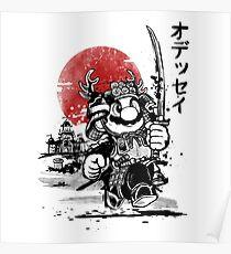 Samurai mario odyssey Poster