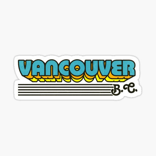 Vancouver, BC | Retro Stripes Sticker