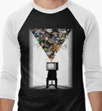 TV Head Minimalism Design Men's Baseball ¾ T-Shirt