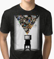 TV Head Minimalism Design Tri-blend T-Shirt