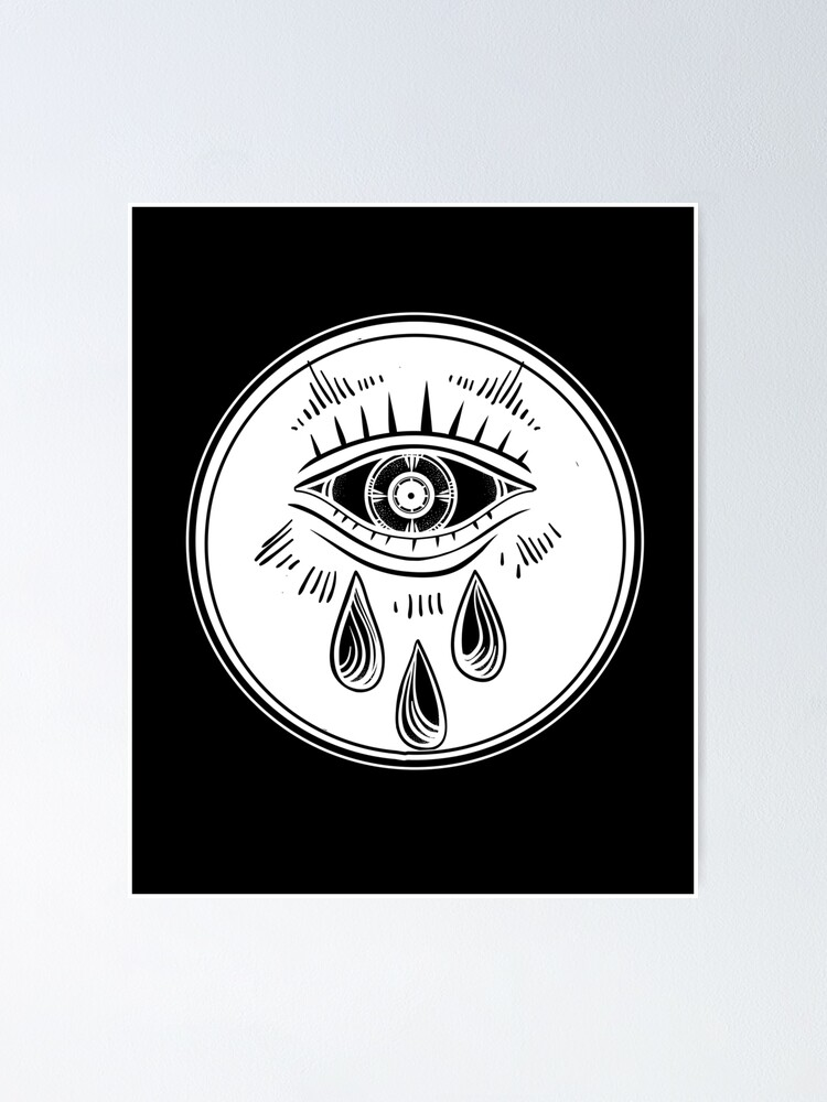 Alternate view of Third Eye Crying - All Seeing Eye Poster