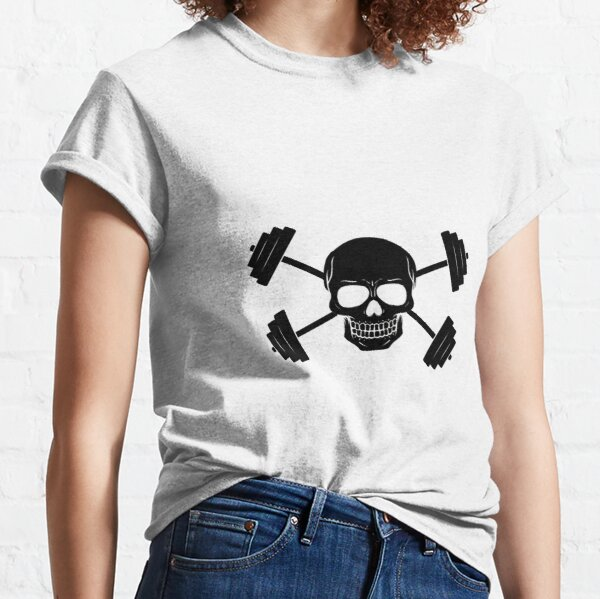 Skull & Crossed Barbells - Jolly Roger Classic T-Shirt