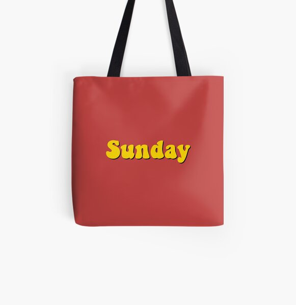 Sunday All Over Print Tote Bag