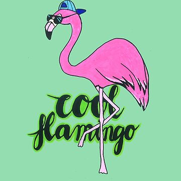 Very Cool Pink Flamingo by DoodlesAndStuff