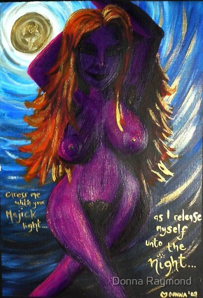 """moon goddess""-08  by Donna Raymond"