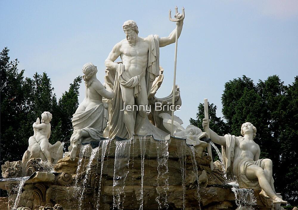 Neptune Fountain, Schonbrunn by Jenny Brice