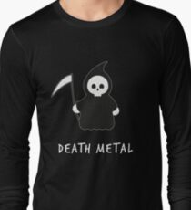 Cute Death Metal Music Reaper Vintage Graphic Long Sleeve T-Shirt