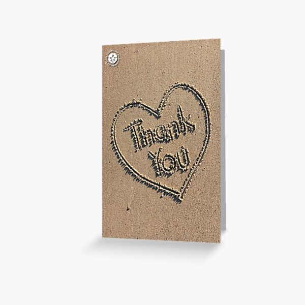Thank you - Sand Heart Greeting Card