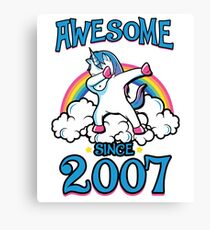 Awesome since 2007 Canvas Print