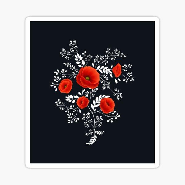 Coquelicot graphic Sticker