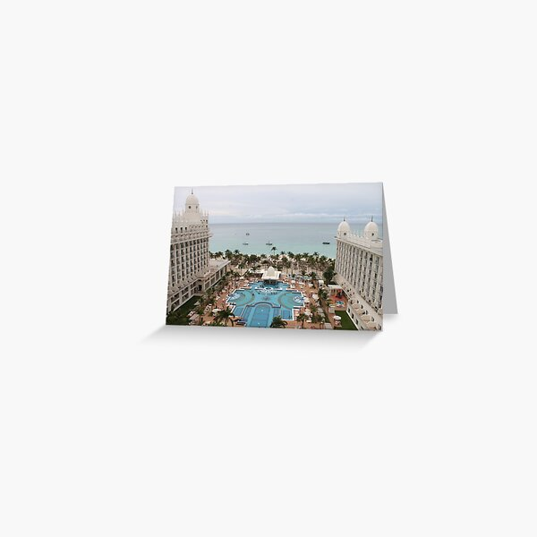 Aruba, resort, spa, health resort Greeting Card