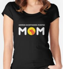 German Shorthair Pointer Mom Women's Fitted Scoop T-Shirt