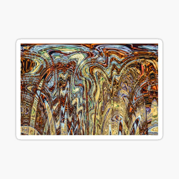 Scramble - Digital Abstract Expressionism Sticker