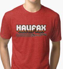 Halifax, Nova Scotia | Retro Stripes Tri-blend T-Shirt