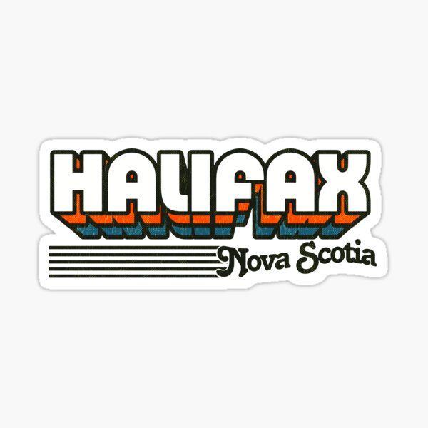 Halifax, Nova Scotia | Retro Stripes Sticker