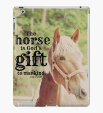 Horse God's gift iPad Case/Skin