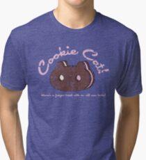 Cookie Cat Vintage Logo Tri-blend T-Shirt