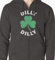 Dilly Dilly Saint Patricks Day Zipped Hoodie