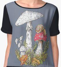 Mushrooms and a snail - 4erta Chiffon Top