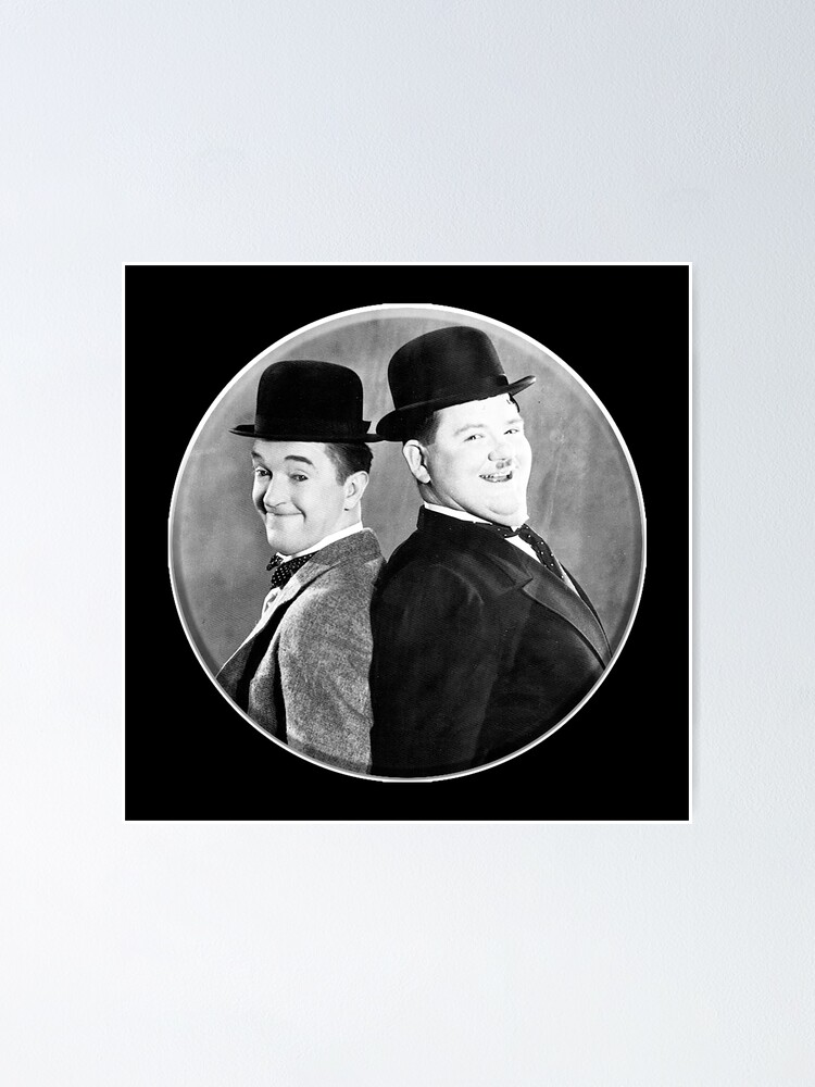 Alternate view of LAUREL AND HARDY. Stan Laurel and Oliver Hardy in their 1939 feature film called The Flying Deuces. Poster