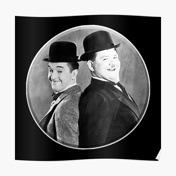 LAUREL AND HARDY. Stan Laurel and Oliver Hardy in their 1939 feature film called The Flying Deuces. Poster
