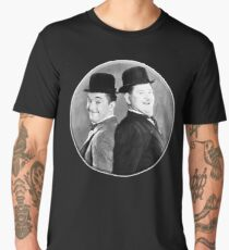 LAUREL AND HARDY, Stan Laurel and Oliver Hardy in their 1939 feature film called The Flying Deuces Men's Premium T-Shirt