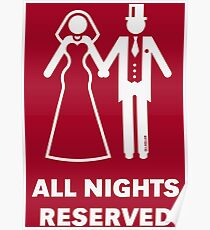 All Nights Reserved (Bride / Groom / Honeymoon / White) Poster