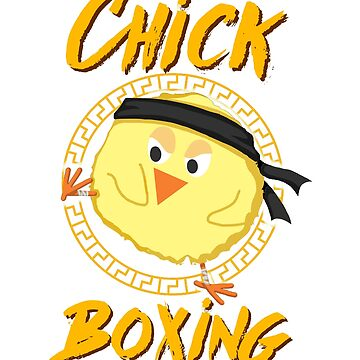 Cute Chick Boxing Karate Taekwondo Martial Artist by Katnovations