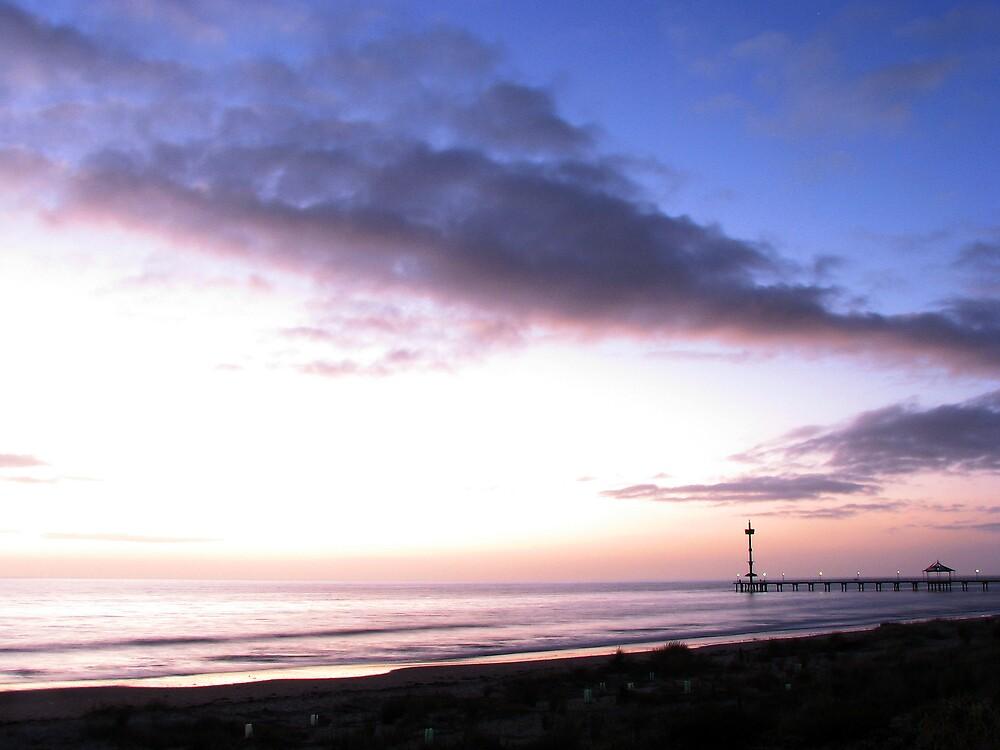 Brighton Jetty sunset by DaveLambert