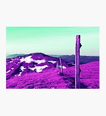 Purple Mountain Photographic Print