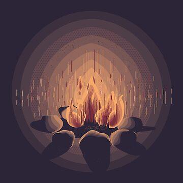 Camp fire by johannbrangeon