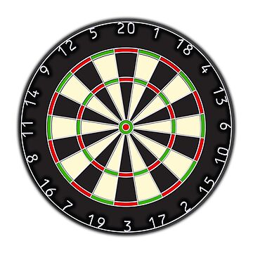 Dart Board, Darts, Arrows, Target, Bulls Eye, Pub, Game, On white by TOMSREDBUBBLE