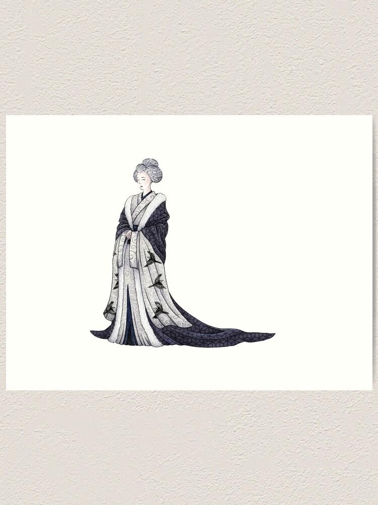 Alternate view of Yuki Onna Art Print