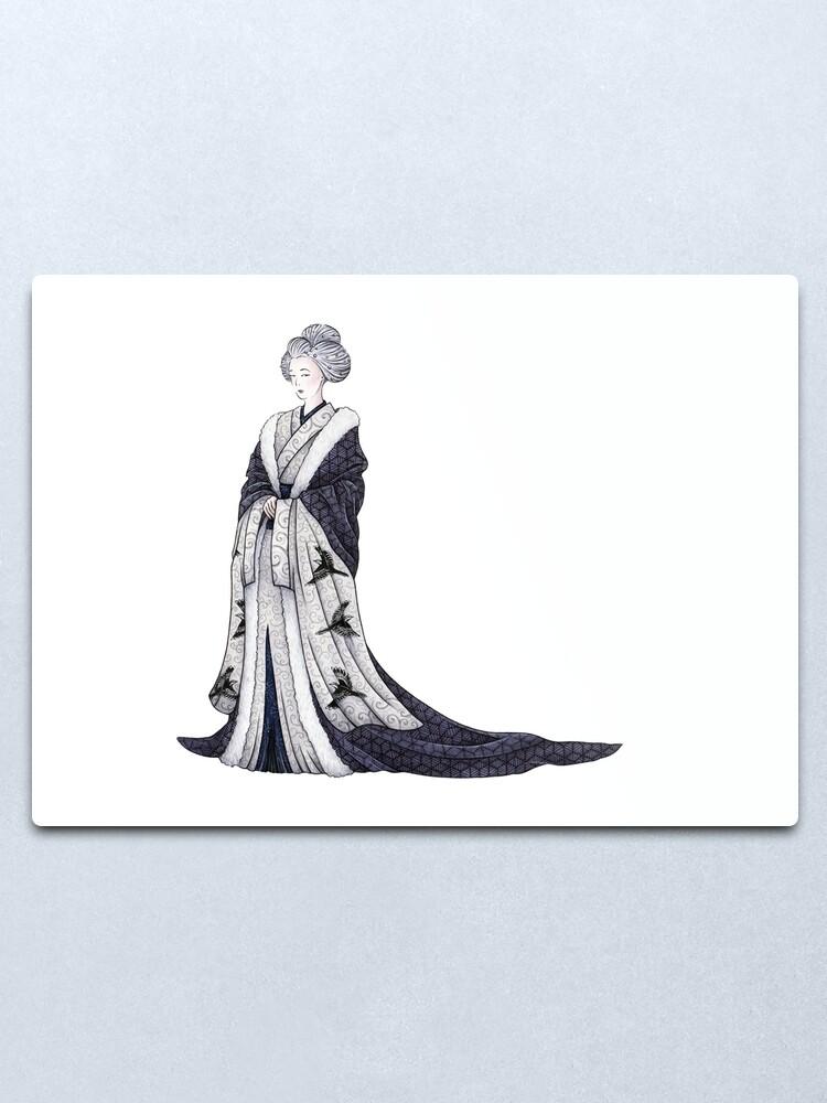 Alternate view of Yuki Onna Metal Print