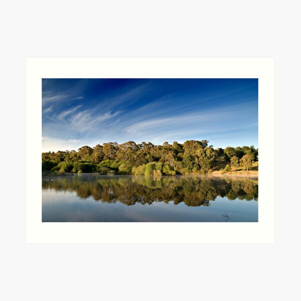 Sunrise Lake Daylesford Art Print