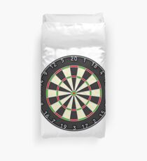 Dart Board, Darts, Arrows, Target, Bulls Eye, Pub, Game, On white Duvet Cover
