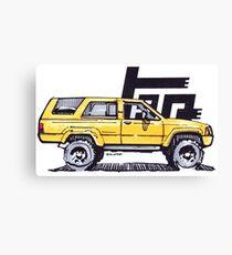 1st Gen 4Runner TRD - Yellow Canvas Print