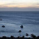 Aruba, resort, health resort, spa, water, bay, boat, boats, sunset by znamenski