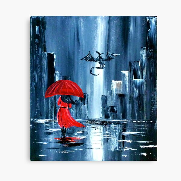 In the City... Canvas Print