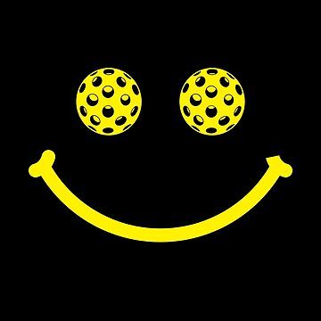 Smiley Face Pickleball Eyes Shirt  by BitterOranges
