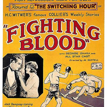 JACK DEMPSEY, BOX, BOXING, FILM POSTER, Fighting Blood by TOMSREDBUBBLE
