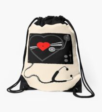 Listen to Your Heart Drawstring Bag