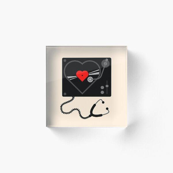 Listen to Your Heart Acrylic Block