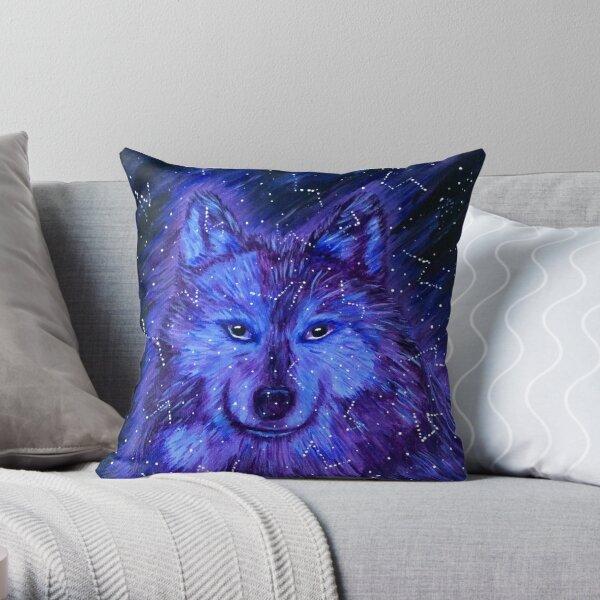 Wolf Star Throw Pillow