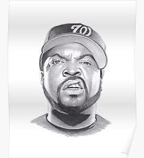 Drawn Ice Cube Poster